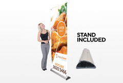 Banner with Retractable Stand