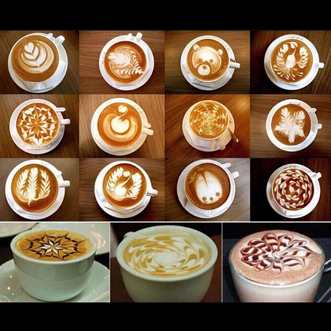Barista Latte Art Stencil Kit (16 pc)