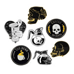 Gothic  Skull & Coffee Punk Pins