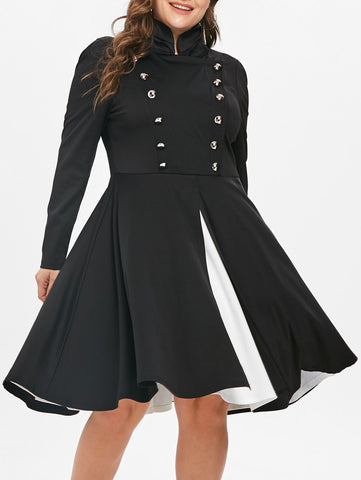 Plus Size Halloween Fit and Flare Dress