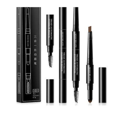 3 in 1 Eye Brow Set for Women pencil powder tool
