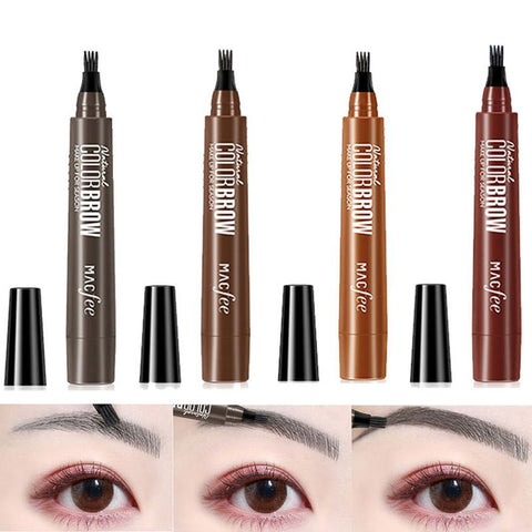 New Four Fork Liquid Eyebrow Pencil Long-lasting Waterproof And Sweatproof