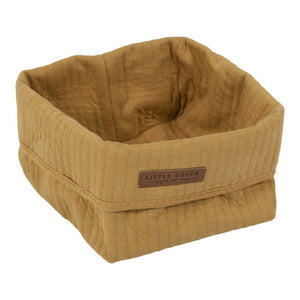 STORAGE BASKET SMALL OCHRE LITTLE DUTCH
