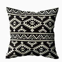 TOMKEY Kid Pillow Case, Hidden Zippered 18X18Inch Geometric Pattern Native Southwest American Print Ethnic Fabric Textile Decorative Throw Cotton Pillow Case Cushion Cover for Home Decor