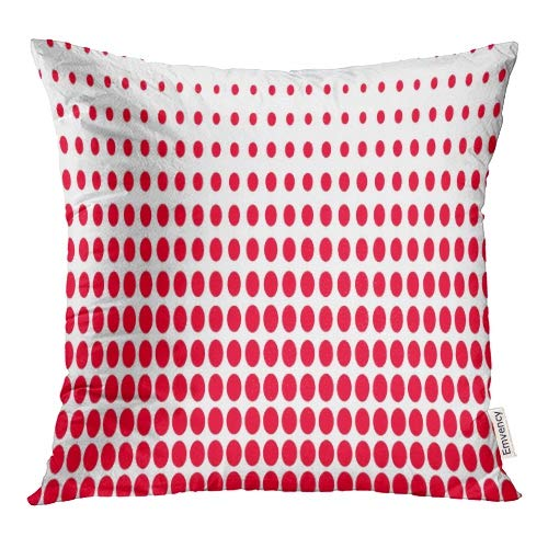 Emvency Decorative Throw Pillow Covers Bright Stripe Black Red White and Grey Parallel Colors Pattern Abstract Geometric Pillowcase Cushion Cover Case Protectors Sofa 16x16 Inches Double Sided