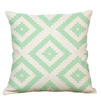 YeeJu Geometric Decorative Throw Pillow Covers Cotton Linen Square Cushion Cover Outdoor Couch Sofa Home Pillow Covers 20 x 20 Inches