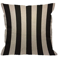 HGOD DESIGNS Stripes Throw Pillow Cover,Wide Lines Texture Modern Abstract Geometric Striped Monochrome Black White Bands Decorative Pillow Cases Linen Cushion Covers for Home Sofa Couch 18x18 inch