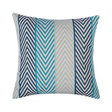 Ofat Home Decorative Cyan Throw Pillow Case, Modern Geometric Navy Blue Green Cushion Cover, Square Cotton Linen Home Decor for Couch Sofa Bed Chair Car Seat 18x18 inch