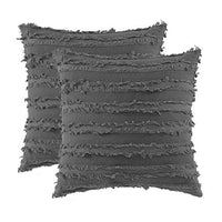 GIGIZAZA Decorative Throw Pillow Covers,Square 18x18 Black Pillow Covers, Boho Couch Sofa Cushion Covers Set of 2(Black, 18x18inch-2pcs)