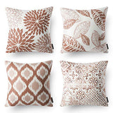 "Phantoscope New Living Series Decorative Throw Pillow Case Cushion Cover Black 18"" x 18"" Set of 4"