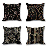 Begleri Throw Pillow Covers,Geometric Throw Pillow Covers for Sofa Living Room Car 18 x 18 Inches,4 Pack.
