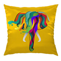 "Moslion Elephant Pillow Home Decorative Throw Pillow Cover Abstract Geometric Elephant Satin Cushion Cover Silk Pillow Cases for Men Women Girls Boys Kid Children Sofa Bedroom Livingroom 18""x18"",Multi"