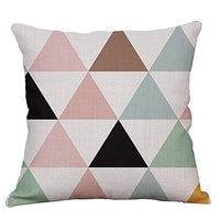 YeeJu Set of 4 Geometric Decorative Throw Pillow Covers Square Cotton Linen Cushion Covers Outdoor Sofa Home Pillow Covers 20x20 Inch