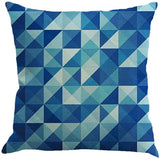 Bokeley Pillow Case, Linen Cotton Square Colorful Abstract Geometric Print Decorative Throw Pillow Case Bed Home Decor Car Sofa Waist Cushion Cover (A)