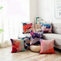 4 Pack Colorful Geometry Style Throw Pillow Covers Cases Square Decorative Cushion Covers Pillowcase Cushion Case for Sofa,Couch 20x20 Inches (Set of 4))