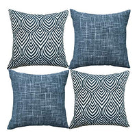 Original Pro Decorative Pillow Covers Chenille Plush Velvet Pillow Covers Quatrefoil Geometric Trellis Chain Pillow Cases for Sofa Couch Bed 18x18 inches Set of 4 Dark Grey