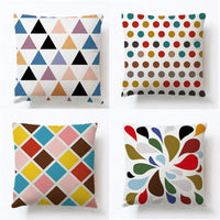 ULOVE LOVE YOURSELF Multicolor Geometry Decorative Pillowcases Square Outdoor&Indoor Cushion Cover Home Decor Throw Pillow Covers for Couch Sofa Bed,18 X 18 Inches,4Pack(Multicolor Geometry)