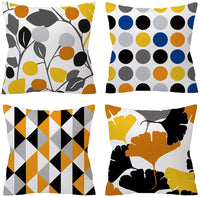 TongXi Black and White Geometric Style Square Decorative Soft Throw Pillow Covers 18x18 inches Pack of 4