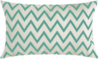 MIULEE Pack of 4 Decorative Pillow Cover Wave Pattern Geometric Style Cotton Linen Burlap Square Throw Cushion Cover Cushion Case for Sofa Bedroom Car 12 x 20 Inch 30 x 50 cm Teal Green
