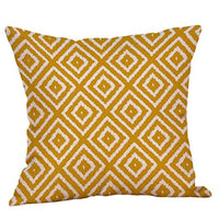 "Iuhan Throw Pillow Case Cushion Cover, Mustard Pillow Case Yellow Geometric Fall Autumn Cushion Cover Decorative 18"" x 18"" 45cm x 45cm (E)"