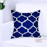 ANTOPM 4 PCS Pillow Covers, 18x18 inch Cotton Linen Square Pillow Covers Cases Decorative Throw Pillow Covers Cushion Covers Cases Pillowcases for Sofa,Bed,Couch (Blue)