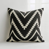 MIULEE Pack of 4 Decorative Pillow Cover Wave Pattern Geometric Style Durable Cotton Linen Burlap Square Throw Cushion Cover Cushion Case for Sofa Bedroom Car 20 x 20 Inch 50 x 50 cm Yellow
