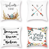 Doitely Home Decorative Pillowcase Mushroom Series Spring Throw Pillow Case Square Super Soft Cushion Cover for Sofa Bed Chair Couch Living Room Decoration 18 x 18 Inch 4 Pack