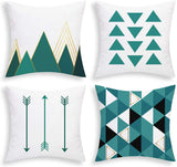 BLEUM CADE Set of 4 Throw Pillow Covers Modern Simple Geometric Style Pillow Covers Throw Pillow Cases Cushion Covers Indoor Outdoor Pillow Case for Couch Bedroom Car