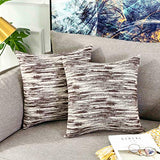 Home Brilliant Abstract Textured Accent Decorative Throw Pillow Covers for Bed Pillowcases, 18x18 inch, Set of 2, Navy Blue