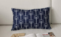 FanHomcy Navy Blue Throw Pillow Covers, 4 Pack, Decorative Velvet Sofa Square Cushion Pillowcases,18 x 18 inch,Geometric Quatrefoil Arrow Ogee Chevron Patterns