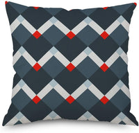 H Design Throw Pillow Cover Decorative Durable Cushion Cover 18 x 18 Geometric Triangle Square Teal Gray Black Blue Pillow Case Hidden Zipper Home Decor Spring Summer Sofa Couch Bedroom Living Room