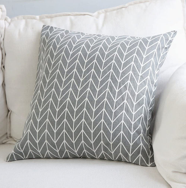 Aimeer 18 X 18 Inch Super Soft Home Decorative Sofa/Bed Throw Pillow Cushion Cover with Invisible Zipper,Gray Linen Pillow Case
