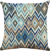 "ZUEXT Geometric Throw Pillow Covers 18"" x 18"" Double Side Design, Set of 4 New Living Series Modern Pillowcase Cushion Cover 45cm x 45cm for Car Sofa Bed Home Decor(Blue Yellow Daffodil, Mix & Match)"