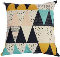 Kackool Simple Style Pillow Cover 18x18 Inches Cotton and Linen Geometric Pillow Throw Pillowcase for Home Decor