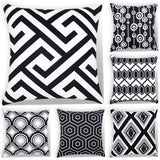 Decorsurface 6 Pack Decorative Throw Pillow Covers 18x18, Modern Design Geometric Pillow Cover Cushion Cases for Couch Sofa Bed car - Navy Blue