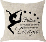 NIDITW Nice Gift Inspirational Words Accept What is Let Go Waist Lumbar Black Cotton Linen Throw Pillow case Cushion Cover for Sofa Home Decorative Oblong 12x20 Inches
