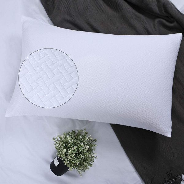 YINFUNG White Pillow Shams Standard Quilted Pattern Matelasse Set of 2 Pillowcases Textured Weave Farmhouse Jacquard Basket Geometric Thick Cotton 100 20×26