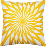 "Leowoo Embroidery Nordic Yellow Pillowcase Pillow Covers 18x18 Modern Abstract Geometric Cushion Covers 18""x18""(45cm x45cm) (F)"