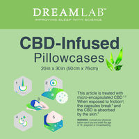 DreamLab CBD-Infused Pillowcase 2-Pack, Standard/Queen
