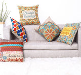 "TRENDIN 18"" X 18"" Vintage Colorful Geometric Cotton Linen Throw Pillow Case Cushion Cover Home Decoration (PL042TR)"
