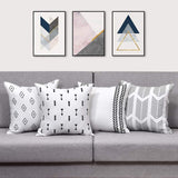 BLEUM CADE Geometric Throw Pillow Covers Modern Decorative Pillow Cover Set of 4 Throw Pillow Case Cushion Covers for Sofa Couch Bed and Car
