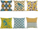 ULOVE LOVE YOURSELF Multicolor Geometry Outdoor Decorative Pillowcases Square Cushion Cover Home Decor Throw Pillow Covers for Couch Sofa Bed,18 X 18 Inches,Set of 6(Multicolor Geometry)