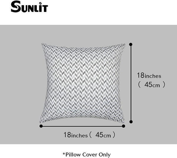Sunlit Decorative Throw Pillows Cushion Cover, Modern Accent Square Pillow, 18''x 18'', Set of 2 Gray and Arrow Patterns for Sofa Couch Chair Bedroom Car,Gray