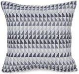 Alexandra Cole Decorative Pillows for Couch Soft Square Pillow Case Chenille Modern Triangle Geometric Throw Pillows Set of 4 17x17 Grey