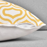 BLEUM CADE Throw Pillow Covers Set of 6 Modern Decorative Throw Pillow Cases Geometric Pillow Covers Cushion Covers for Couch Sofa Bedroom Car(Yellow and White, 18 x 18 Inch)