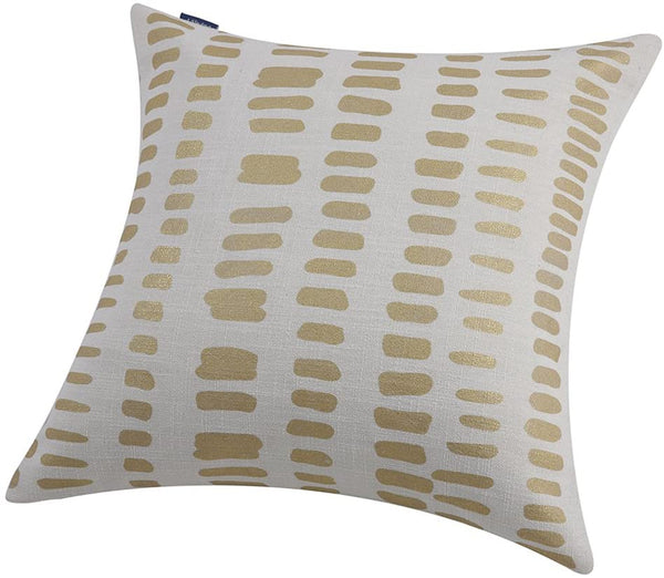 Aitliving Metallic Gold Foil Stamping Print Throw Pillow Cover 1pc Natural Linen Blend AmaZulu Geometric Pillow Case Square Accent Cushion Shell 50X50cm 20X20
