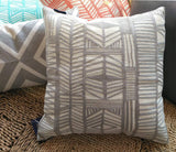 Aitliving Decorative Pillowcase Cotton Canvas 1 pc Geometric Bolero Throw Pillow Cover Grey 18x18
