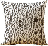 WOMHOPE Set of 4 Colorful Geometric Throw Pillow Covers Decorative Burlap Toss Pillowcases Square Cushion Cases 18 x 18 Inch for Living Room,Couch,Bed (Rome (Set of 4))