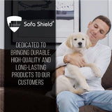 Sofa Shield Original Patent Pending Reversible Sofa Corner Sectional Protector, 30x30 Inch, Washable Furniture Protector, 2 Inch Strap, Sectional Corner Slip Cover for Pets, Dogs, Diamond Charcoal