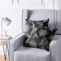 "AmazonBasics 2-Pack Textured Weave Decorative Throw Pillows - 18"" Square, Grey Geometric"